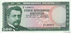 500 Kronur ISLANDE  1961 P.45a