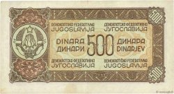 500 Dinara YOUGOSLAVIE  1944 P.054b TTB+