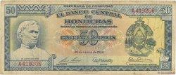 50 Lempiras HONDURAS  1956 P.054a TB