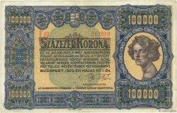 100000 Korona HONGRIE  1923 P.072a TTB