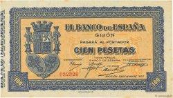 100 Pesetas ESPAGNE Gijon 1937 PS.580 SPL