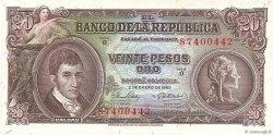 20 Pesos Oro COLOMBIE  1965 P.401c SPL