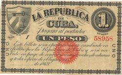 1 Peso CUBA  1869 P.055a TTB