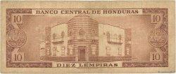 10 Lempiras HONDURAS  1961 P.052b TB