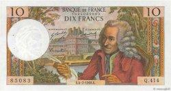 10 Francs VOLTAIRE FRANCE  1968 F.62.33