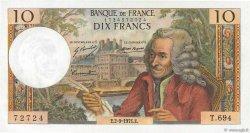 10 Francs VOLTAIRE FRANCE  1971 F.62.51 SUP+ à SPL