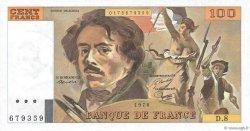 100 Francs DELACROIX modifié FRANCE  1978 F.69.01e pr.NEUF