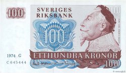 100 Kronor SUÈDE  1976 P.54b SPL+