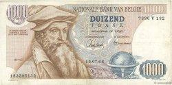 1000 Francs BELGIQUE  1966 P.136a TB+