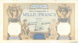 1000 Francs CÉRÈS ET MERCURE type modifié FRANCE  1939 F.38.37 SUP+ à SPL