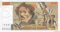 100 Francs DELACROIX modifié FRANCE  1981 F.69.05 SUP+
