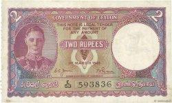 2 Rupees CEYLAN  1949 P.35a TTB