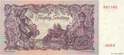 50 Schilling AUTRICHE  1951 P.130 SUP