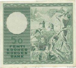 50 Kroner NORVÈGE  1957 P.32b2 TTB