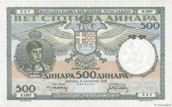500 Dinara YOUGOSLAVIE  1935 P.032 SUP+