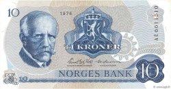 10 Kroner NORVÈGE  1976 P.36b SUP