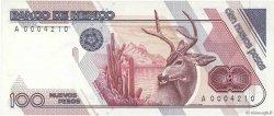 100 Nuevos Pesos MEXIQUE  1992 P.098 pr.NEUF
