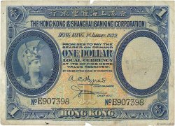 1 Dollar HONG KONG  1929 P.172b B+