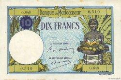 10 Francs MADAGASCAR  1948 P.36 SUP