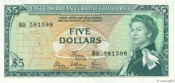 5 Dollars CARAÏBES  1965 P.14e pr.NEUF