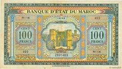 100 Francs MAROC  1943 P.27a TTB