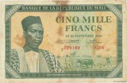 5000 Francs MALI  1960 P.05 TB