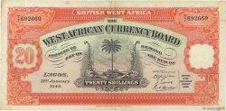 20 Shillings AFRIQUE OCCIDENTALE BRITANNIQUE  1946 P.08b TTB