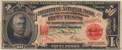 50 Pesos PHILIPPINES  1920 P.049 TTB