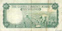 10 Shillings GAMBIE  1965 P.01a TB