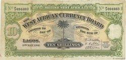 10 Shillings AFRIQUE OCCIDENTALE BRITANNIQUE  1941 P.07b TB+