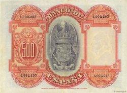 500 Pesetas ESPAGNE  1927 P.073c TTB