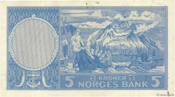 5 Kroner NORVÈGE  1957 P.30c pr.SUP