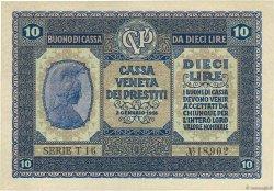 10 Lire ITALIE  1918 PM.06 SPL+
