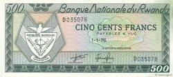 500 Francs RWANDA  1971 P.09b pr.NEUF