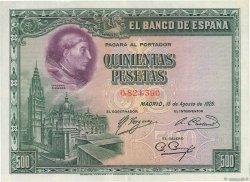 500 Pesetas ESPAGNE  1928 P.077a SUP