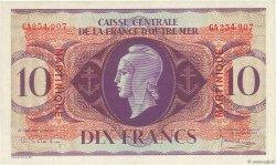 10 Francs type Anglais MARTINIQUE  1944 P.23 SPL