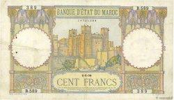 100 Francs type 1928 MAROC  1938 P.20 pr.TTB