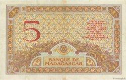 5 Francs MADAGASCAR  1937 P.35 TTB