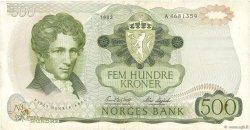 500 Kroner NORVÈGE  1982 P.39a TB