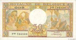 50 Francs BELGIQUE  1956 P.133b TTB