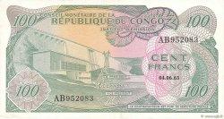 100 Francs CONGO (RÉPUBLIQUE)  1963 P.001a SUP