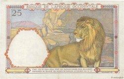 25 Francs AFRIQUE OCCIDENTALE FRANÇAISE (1895-1958)  1942 P.27 TTB
