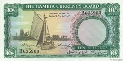 10 Shillings GAMBIE  1965 P.01a pr.NEUF