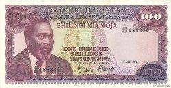 100 Shillings KENYA  1976 P.14c SUP