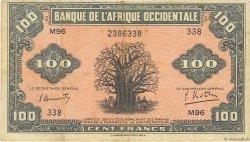 100 Francs type 1942 AFRIQUE OCCIDENTALE FRANÇAISE (1895-1958)  1942 P.31a TTB