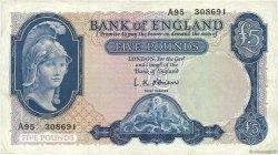 5 Pounds ANGLETERRE  1961 P.371 TB+