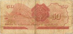 50 Francs RWANDA BURUNDI  1960 P.04 pr.TB