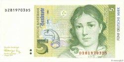 5 Deutsche Mark ALLEMAGNE FÉDÉRALE  1991 P.37 NEUF