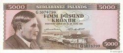 5000 Kronur ISLANDE  1961 P.47a SPL
