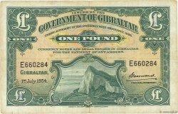 1 Pound GIBRALTAR  1954 P.15c TB+